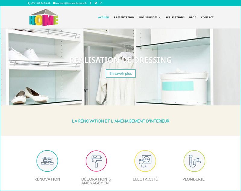 réalisation site internet homesolutions