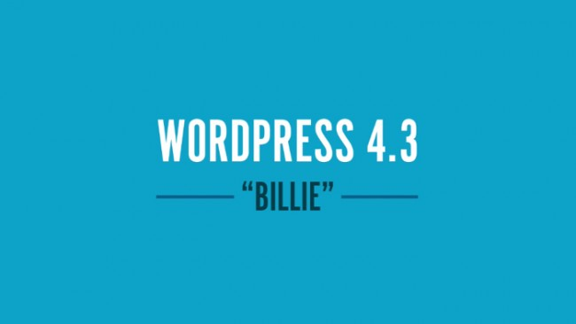 Mise à jours de WordPress 4.3 Billie